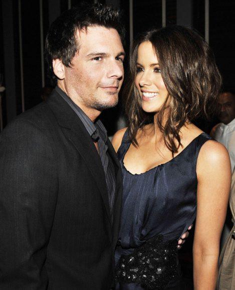 "LOS ANGELES, CA - SEPTEMBER 09: Actress Kate Beckinsale (R) and her husband Len Wiseman arrive at the afterparty for the premiere of Warner Bros. Pictures' ""Whiteout"" at Tavern on September 9, 2009 in Los Angeles, California. (Photo by Kevin Winter/Getty Images)"