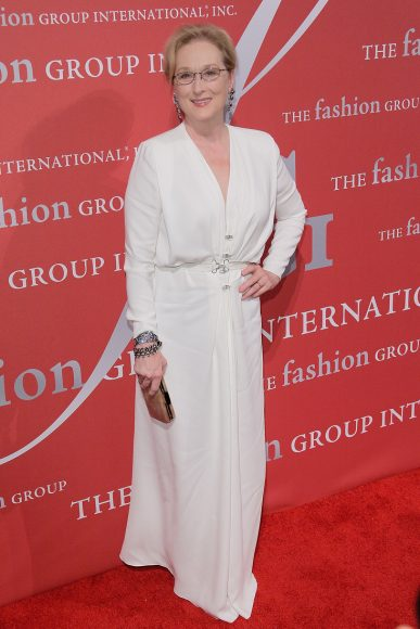 NEW YORK, NY - OCTOBER 22:  Meryl Streep attends the 2015 Fashion Group International Night Of Stars Gala at Cipriani Wall Street on October 22, 2015 in New York City.  (Photo by Randy Brooke/Getty Images)