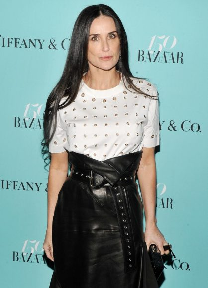 Celebrity arrivals at Harper's BAZAAR 150th Anniversary Event Presented With Tiffany & Co At The Rainbow Room. 19 Apr 2017 Pictured: Demi Moore. Photo credit: MEGA TheMegaAgency.com +1 888 505 6342